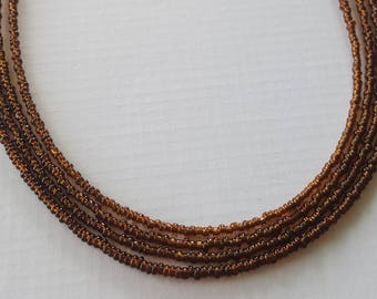 Seed bead necklace - brown necklace - necklace - brown bead necklace - Brown seed bead necklace your choice of sizes ready to ship