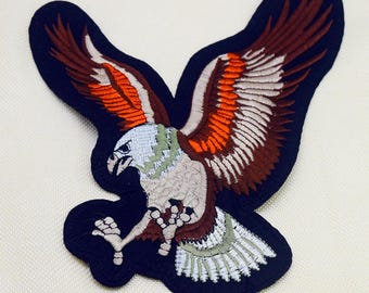 Eagle embroidered patch applique vintage patch T-shirt or coat decoration patch
