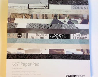 "KaiserCraft ""Just Landed"" 6.5"" x 6.5""  Paper pad"