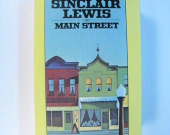 MAIN STREET, Sinclair Lewis - Very Good Rare 1980 X-Library Signet Classic Hardcover