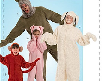 McCalls Easy Adult-4 Halloween Jumpsuits Costumes