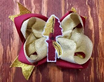 Florida State Seminoles inspired bow