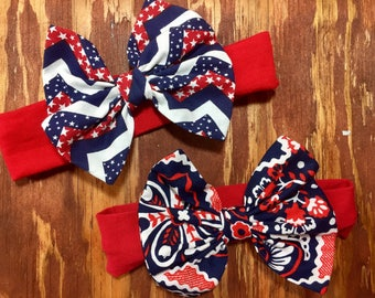 Patriotic Headband Bow
