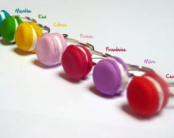 Ring gourmet macaroon (choice of color)