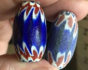 LAST ONES! 3 Handmade LARGE Chevron Beads