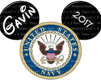 IRON-ON US Navy Logo Ears! - Mouse Ears Tshirt Transfer