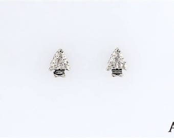 Sterling Silver Arrowhead Charm, Post, Dangle Earrings