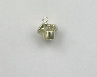 Sterling Silver 3-D Chef's Hat Charm