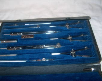 Vintage Charvoz Drafting Tools, Chicago Technical College, No. 577