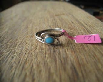Sterling Silver Blue Enamel Ring Size 8 (12)