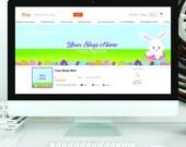 Etsy Banner - Etsy shop Banner - Etsy Banner set - Etsy Banner Easter - Business Card - Facebook Photo Timeline Cover - Custom Banner