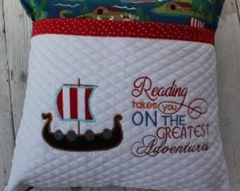 Reading Book Cushion....'Viking Adventure'