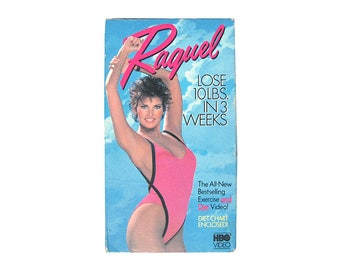 Raquel Welch Lose 10 lbs in 3 Weeks Work Out VHS Video Celebrity Actress HBO David White Vintage