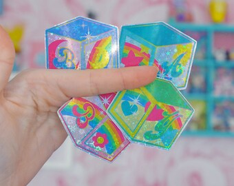 Building Blocks DDLG / ABDL Fetish Holographic Sticker Pack