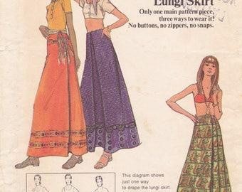 Indian Lungi Skirt Butterick Pattern