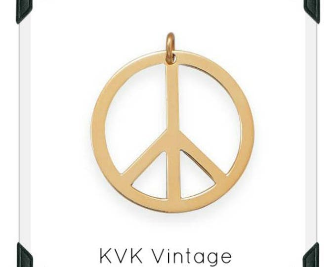 Gold Filled Peace Sign Pendant