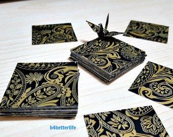 "200 Sheets 1.5"" x 1.5"" Batik Design DIY Chiyogami Yuzen Paper Folding Kit for Origami Cranes ""Tsuru"". (WR paper series). #FC15-41s."