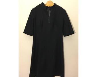 Handmade Black V-Neck Dress