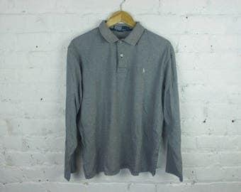 90s Polo Ralph Lauren stripped long sleeve shirt black / white