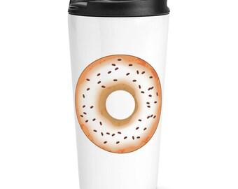 Coffee Glazed Doughnut Donut Travel Mug Cup