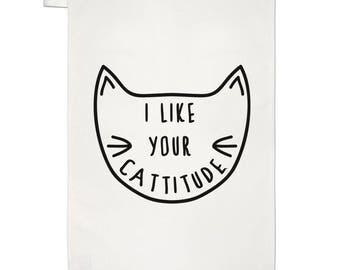I Like Your Cattitude Tea Towel Dish Cloth
