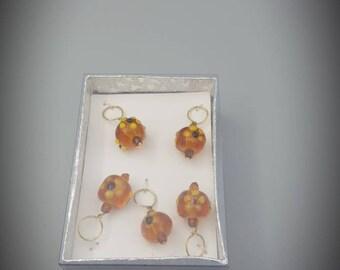 yellow sunflower, bead stitch marker, knitting gift, Scottish gift,  luxury knitting accessory,