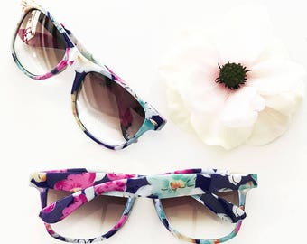 Floral Sunglasses 6ct Bridal Party Favors - Bride Tribe Gifts - Party Ideas - Bachelorette Sunglasses - Bachelorette Party Favors EB3203NP