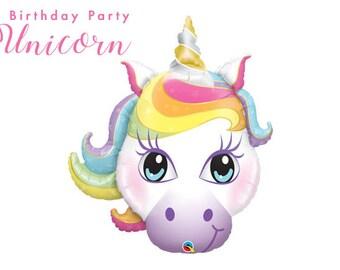Unicorn Balloon (2ct) - Unicorn Party Theme - Fantasy Balloons - Animal Foil Balloon - Fantasy Birthday Party - Birthday Balloon Decor