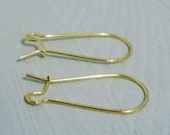 Lot de 5 paires de support boucles d'oreille dorés or crochets hameçons ☆ création bijoux ☆ pendentifs, apprêts, perles