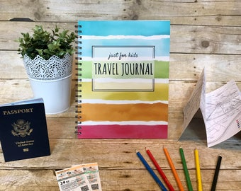 Kid's Travel Journal, Traveler's Gift, Travel Diary, Family Travel, Travel Gift, Travel Notebook, Kids Travel Journal