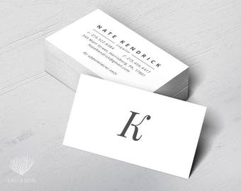 Typography Elegant Business or Calling Card for a business professional, Real Estate, Attorney, Consultant, Advisor, Appraiser, Fiduciary