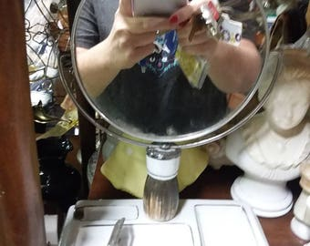 Vintage Shaving Mirror with tray