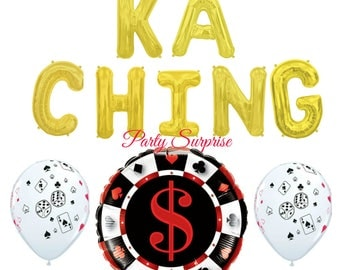 Casino party balloons Cards Balloons, Poker Balloons, Dice Balloons, Poker Tournament decorations, Bingo balloons, Texas Hold'em Balloons