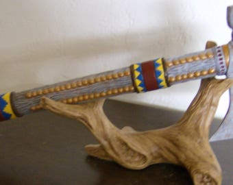 Native Inspired Smoking Pipe Tomahawk