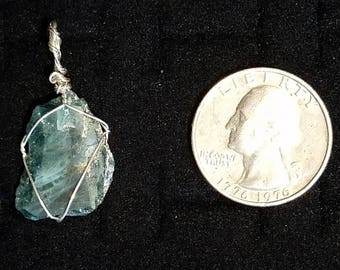 Teal Apatite Sterling Silver Pendant
