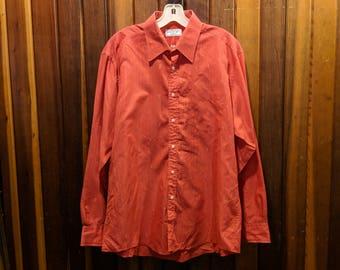 1980s // YSL! // Vintage Yves Saint Laurent Menswear Button Down