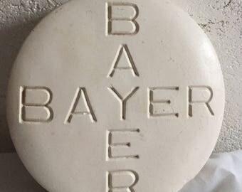 Bayer Aspirin Chalk Ware Store Display