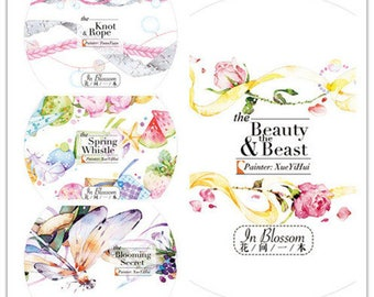 New Arrival~ 2017 May New Washi tape--23mm*10M or 25mm*10M--Spring Whistle--Beauty beast--Blooming secret--Knot rope
