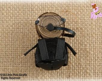 Lil' Poppet™ Maya Reefer, Scuba Diver Ribbon Sculpture Hair Clip or Brooch Pin