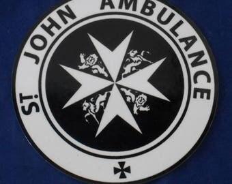 "Tardis Sign  for   St. John Ambulance Metal, 3 "" , New Item !!"