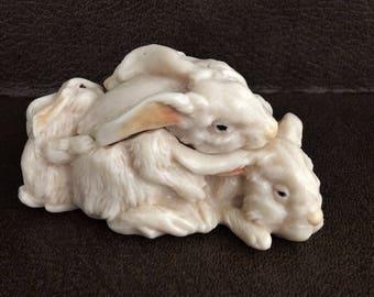 Ralph Massey Pile of Bunnies Trinket Box