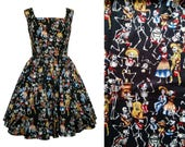Day of the Dead Dress - Dia de los Muertos - MEASUREMENTS REQUIRED - Made To Measure Choice Of Style And Finish