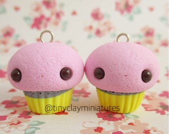 Pencil cupcake polymer clay miniature charm