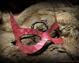 """""""pink lady"""" molded leather mask"""