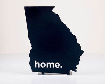 Georgia Home State Steel Sign - Metal State Wall Decor