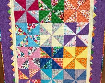Baby Girl Pinwheel Quilt