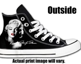 Marilyn Monroe Black Custom Converse All Stars