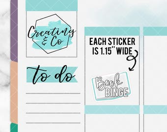 Book Binge Stickers for Variety of Planners - DC08