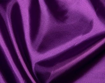 "Purple Habotai 'Silk' Lining Fabric Polyester Material 145cm (57"") Wide"