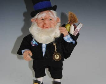 "Borrower Elf Doll/Fantasy Doll/Hand Sculpted Art Doll/ ""Sullivan the Borrower"""